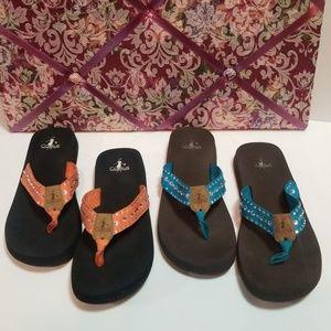 Corkys sandals flip flops sz 10
